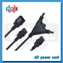Y split power cord with double female
