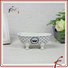Белая глазурь керамическая ванна мыльница