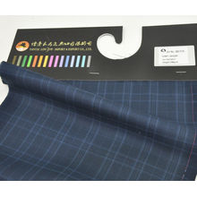stock wool polyester blend fabric cheap