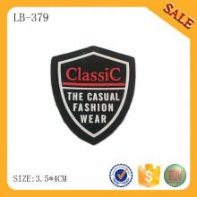 LB379 étiquette de vêtements en silicone 3D de haute qualité, étiquette de logo en silicone personnalisée en gros