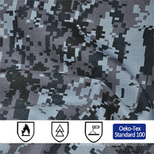 wholesale 50/50 polyester/cotton digital hunting camo ripstop fr fabric