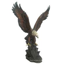 decoração animal metal artesanato bronze águia ao ar livre estátuas