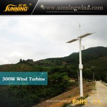 Gerador de turbina do 300W híbrido sistema ímã permanente vento (MINI 3)