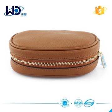 2015 пользовательских дамы коричневый кожаный кошелек