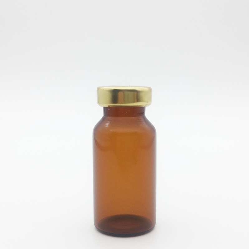 8ml Amber Sterile Serum Vials Gold