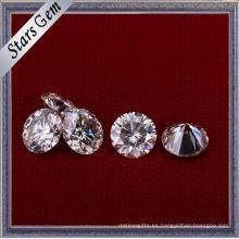 Forever One Round Brilliant Cut Moissanite piedras preciosas para joyería de compromiso de moda