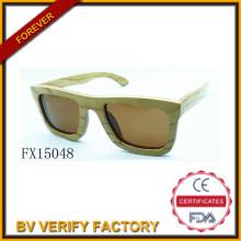 Óculos de sol de madeira do alibaba comércio garantia 2015 Square (FX15048)