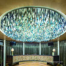 Modern Customized Hotel Lobby Luxury Crystal Chandeliers Pendant Lights For High Ceiling Decor Lighting