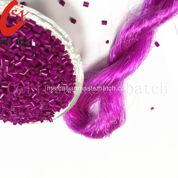Plastik kepekatan Pigmen warna tinggi Granules Bright Purple Color Masterbatch