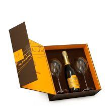 High-End-Einzelglasflasche Starre Weinbox aus Papier
