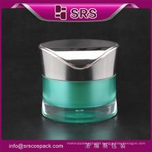 Plastic Jar With Screw Cap And Unique Round Waist Shape 30g 50g Acrylic Cream Cosmetic Jars Bottles