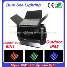 Наружная светодиодная настенная стиральная машина 60g x 18w rgbwa uv 6in1
