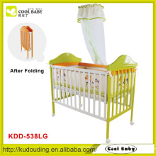 EN1888 high quality frame china baby crib , bed models baby cribs