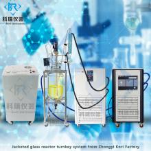 Reactor de vidrio agitado digital para mezclar agitación