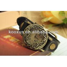 2013 novo estilo relógio de couro genuíno