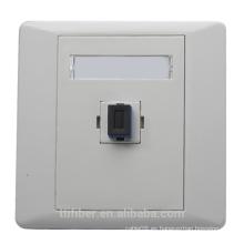 Placa frontal / zócalo de fibra óptica SC / UPC del solo puerto