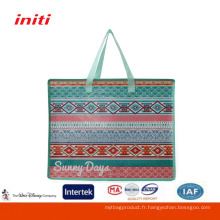 Eco Factory Quality Laminated Blue PP Woven Shopping Bag