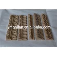 cadre en bois décoratif sculpté, moulures en bois de maison, cadre en bois de meubles en relief