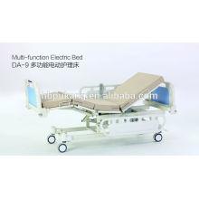 Lit d'hôpital électrique multifonction avec fonction bouton assise