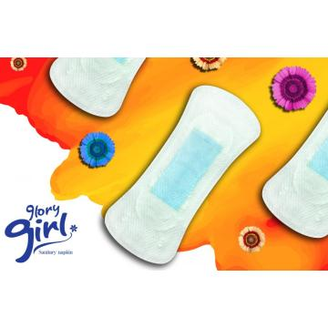 Breathable panty liner with negative ion