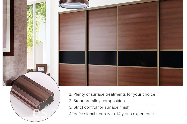 Aluminium Profile Of Sliding Wardrobe Door