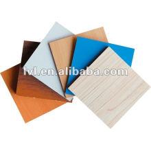 MDF / HDF de grau de mobiliário para exportação com papel de melamina colorido