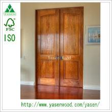 Porta de madeira exterior tradicional do projeto da fábrica de China