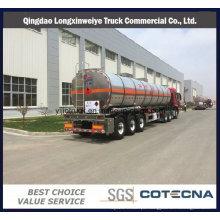 3 eixo 40000L-50000liters óleo gasolina liga de alumínio tanque de combustível tanque semi reboque