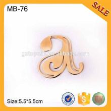 MB76 Custom кожаный багажный тег, выгравированный металлический ярлык для бирки Логотип для сумочки