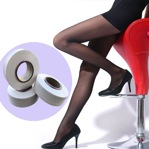 Easy adhesive spandex for stockings