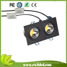 High Lumen COB Powered Square Downlight Empotrado Luces LED
