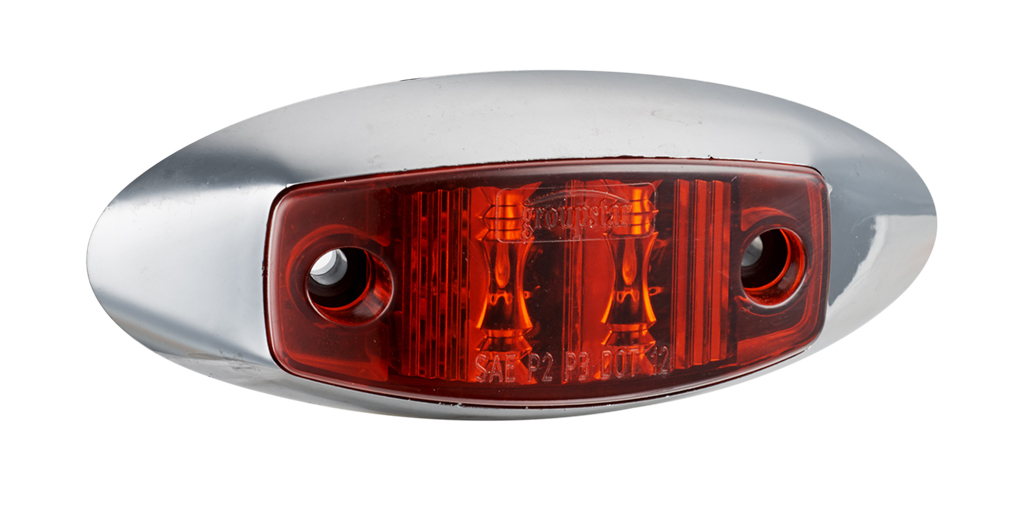 Red Truck Marker Lights With Grommet