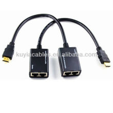 HDMI extender cable HDMI Extender over Cat5e/6 Cable HDMI Extender with pigtail, Tx+Rx/unit, up to 30m1080p