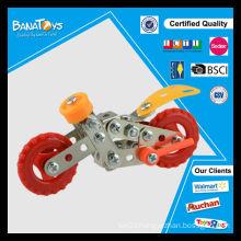 Diy metal brick kids toy self assemble toys