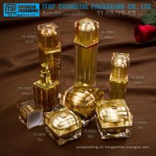 Chegada nova muito bonita e elegante luxo 100% de qualidade garantem quadrada acrílicos frascos e garrafas de embalagens de cosméticos