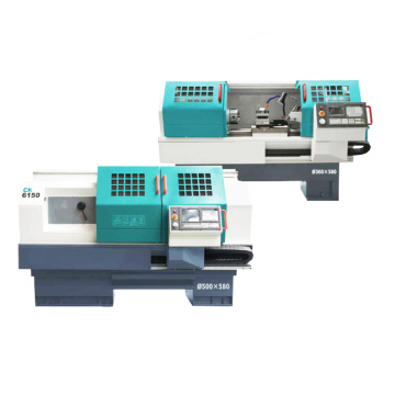 Cheap Price Mini Flat bed Gang type tools CNC Lathe Economical Horizontal Lathe Machine
