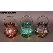 Decoración de muebles Artesanía de vidrio ligero con cadena de cobre LED de iluminación (9102)