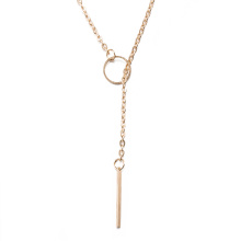 Europa-Art- und Weiseheißer Verkauf Zink-Legierungs-Halsketten-einfaches Entwurfs-Frauen-Halsketten-Gold überzogen