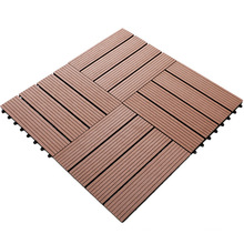 Cheap price wooden decking DIY wooden floor wpc outdoor tiles direct from factory