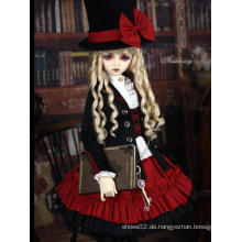 Bjd Clothes Schwarz-Roter Anzug für Kugelgelenkpuppe