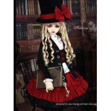 Bjd Clothes Traje negro y rojo para muñeca articulada