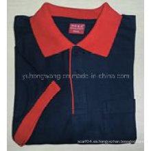 La camiseta impresa de los hombres del algodón de la promoción, camisa del polo