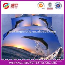 Comercio al por mayor China precio barato poliéster 3D impreso tela para russsia flor impresa hoja de cama tela conjunto reactiva cama impresa
