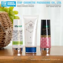 35mm e 40mm diâmetro diferente estilo plástico da alta qualidade tampa cor personalizável oval espremer tubos para cosméticos