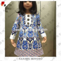 girls blue frock fancy smoking dress