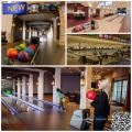 Recondicionado Bowling Alley com Neon Laser Lighting