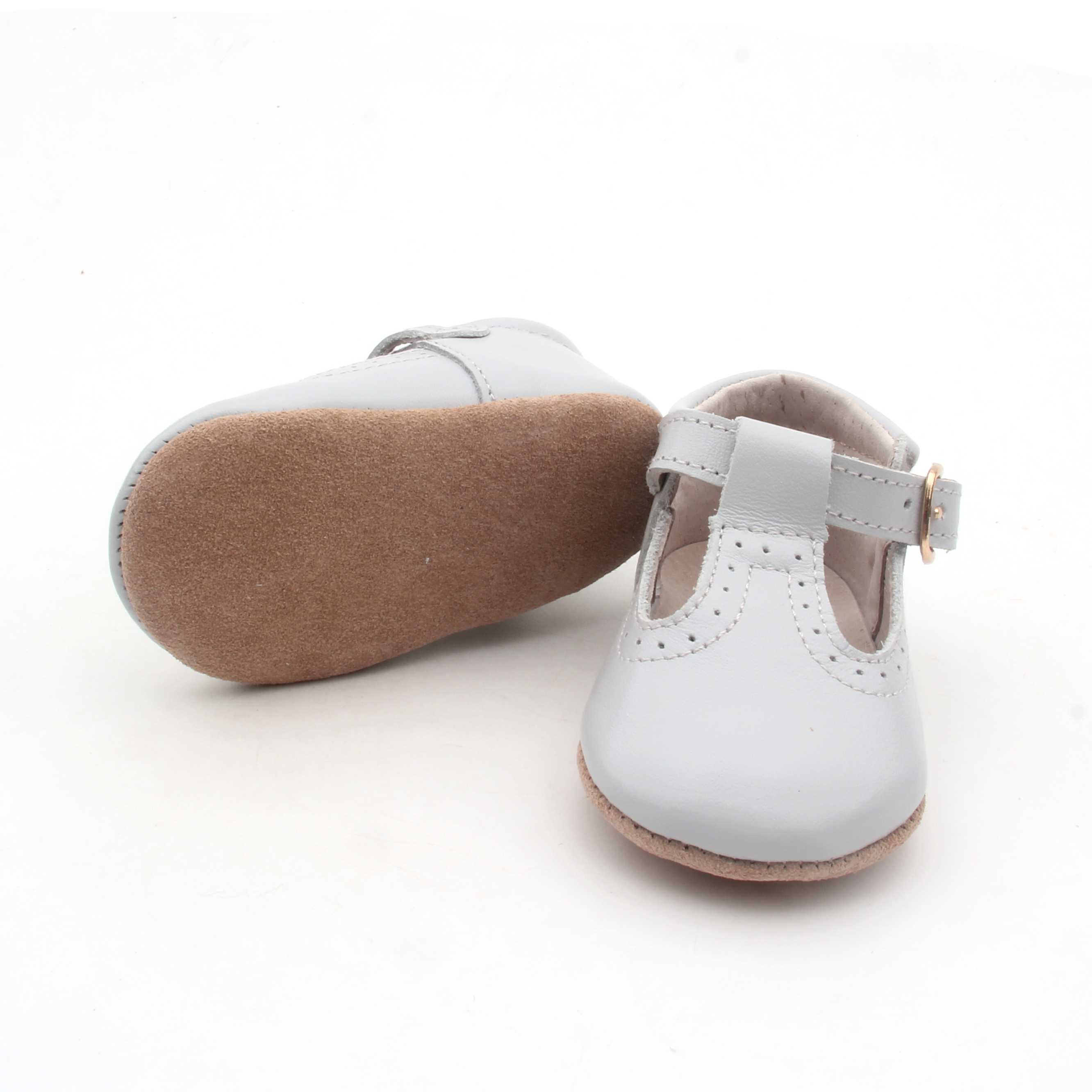 Baby T bar dress shoes Soft Leather
