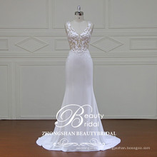 see through sexy wedding dress image mermaid bridal gown with high quality crepe fabric