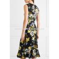 Цветочный Принт Мульти цвета без рукавов Миди Летнее дневное платье Производство Оптовая продажа женской одежды (TA0005D)