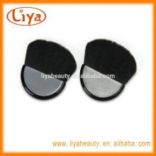 Free sample nylon hair black mini compact brush for make up